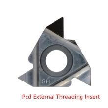 Pcd diamond tools 11IR AG55 AG60 16ER AG55 threading carbide insert screw cnc indexable lathe tools thread turning cutter 1PC