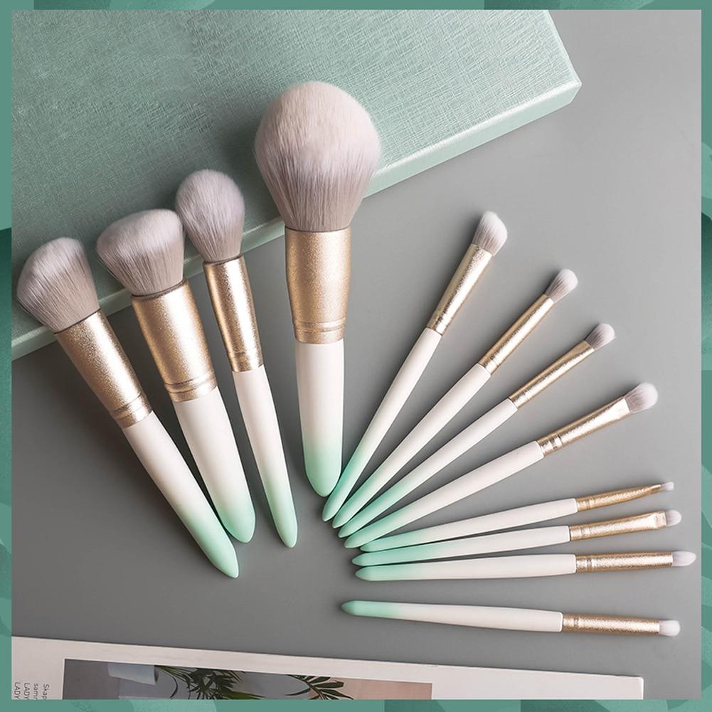 Foeonco Kosmetik Pinsel 12 stücke Gradienten Make-Up Pinsel Set Professional Beauty Make-Up Pinsel Weiche Haar Foundation Powder Blushes