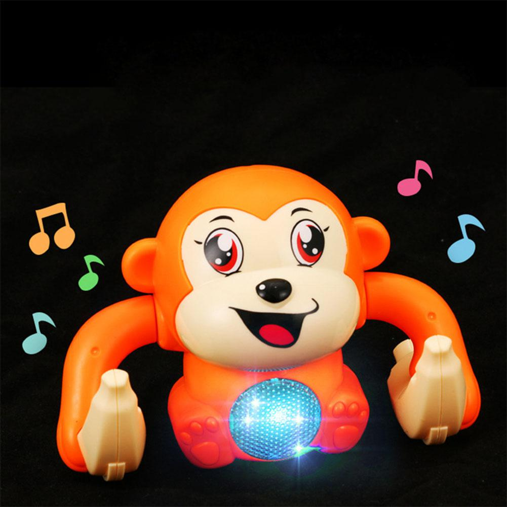 Baby Electric Toys Voice Control Rolling Monkey Toy Walk Sing Game Crawling Gifts With Changeable Light