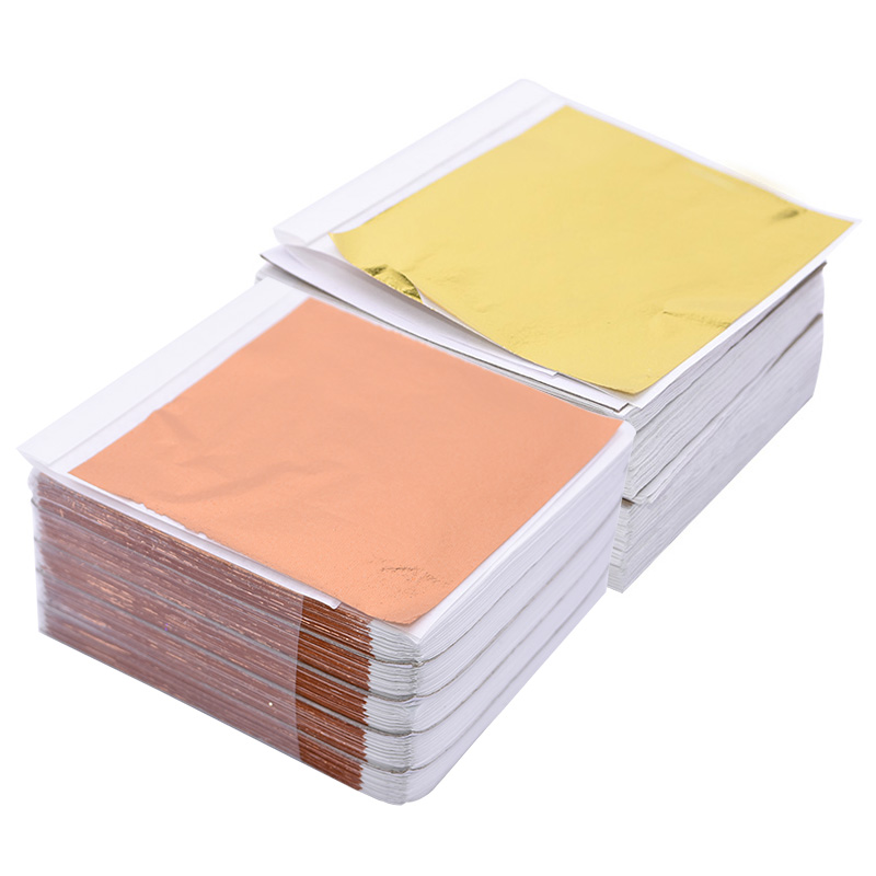 100pcs 14x14cm Art Craft Imitation Gold Sliver Copper Foil Papers Leaf Leaves Sheets Gilding Diy Cake Craft Decor Design Paper Big Deal Cf33 Cicig