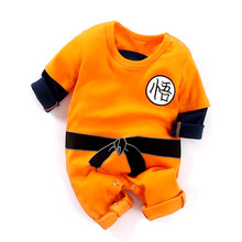 Kung Fu Infant Toddler Baby Boys Clothing Casual Long Sleeve Goku Romper Jumpsui