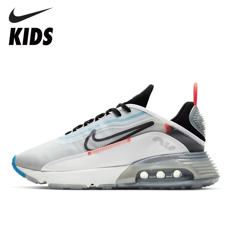 NIKE AIR MAX Kids Running Shoes AIR Cushion Children Sneakers Breathable Anti-slip Man Shoes CT7698 CT7695