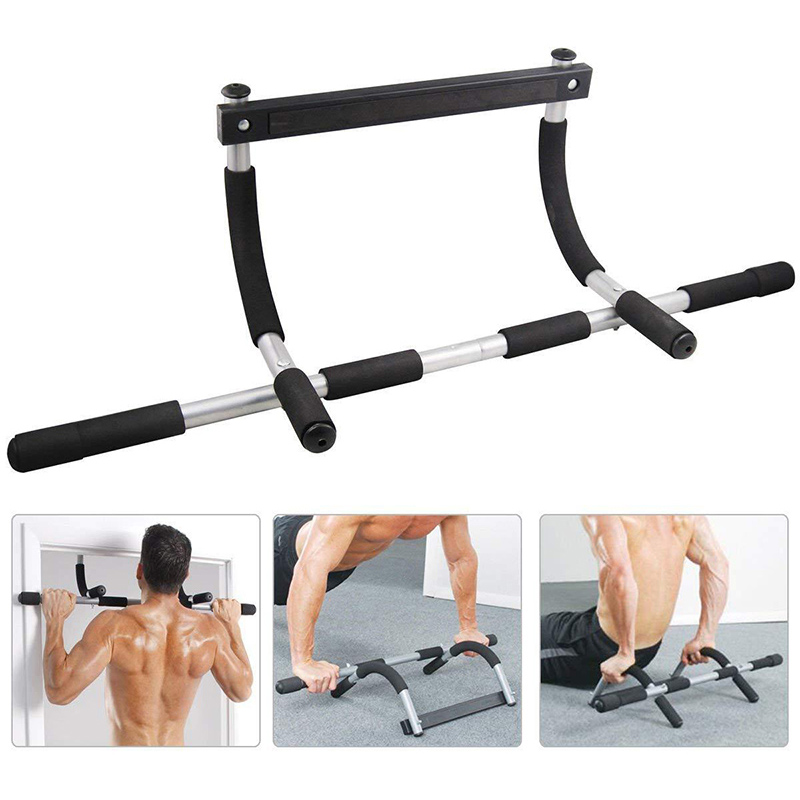 Indoor Fitness Door Frame Pull Up Bar Wall Chin Up Bar Adjustable Training Horizontal Bar For Home Workout Fitness Equipments