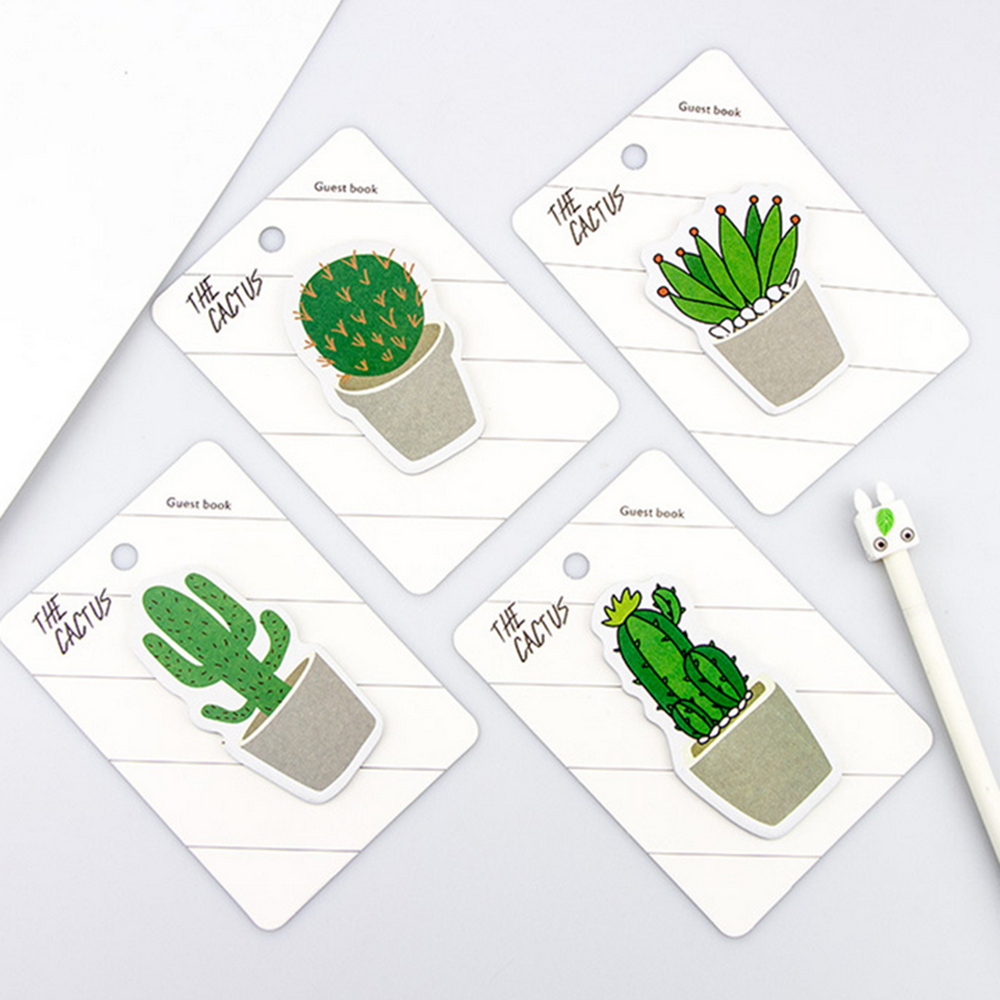 30 Sheets Fresh Cactus Memo Pad Sticky Notes Notebook Stationery Memo Pad  School Office Supplies