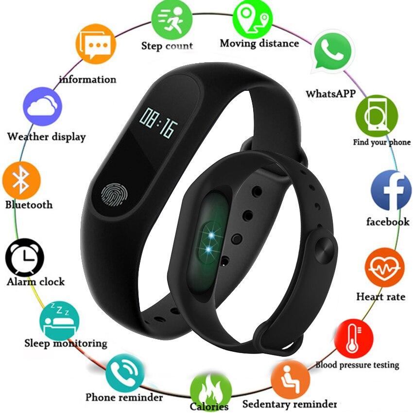 Bracelet de Sport montre intelligente hommes femmes Smartwatch pour Android IOS Tracker de Fitness électronique intelligent horl