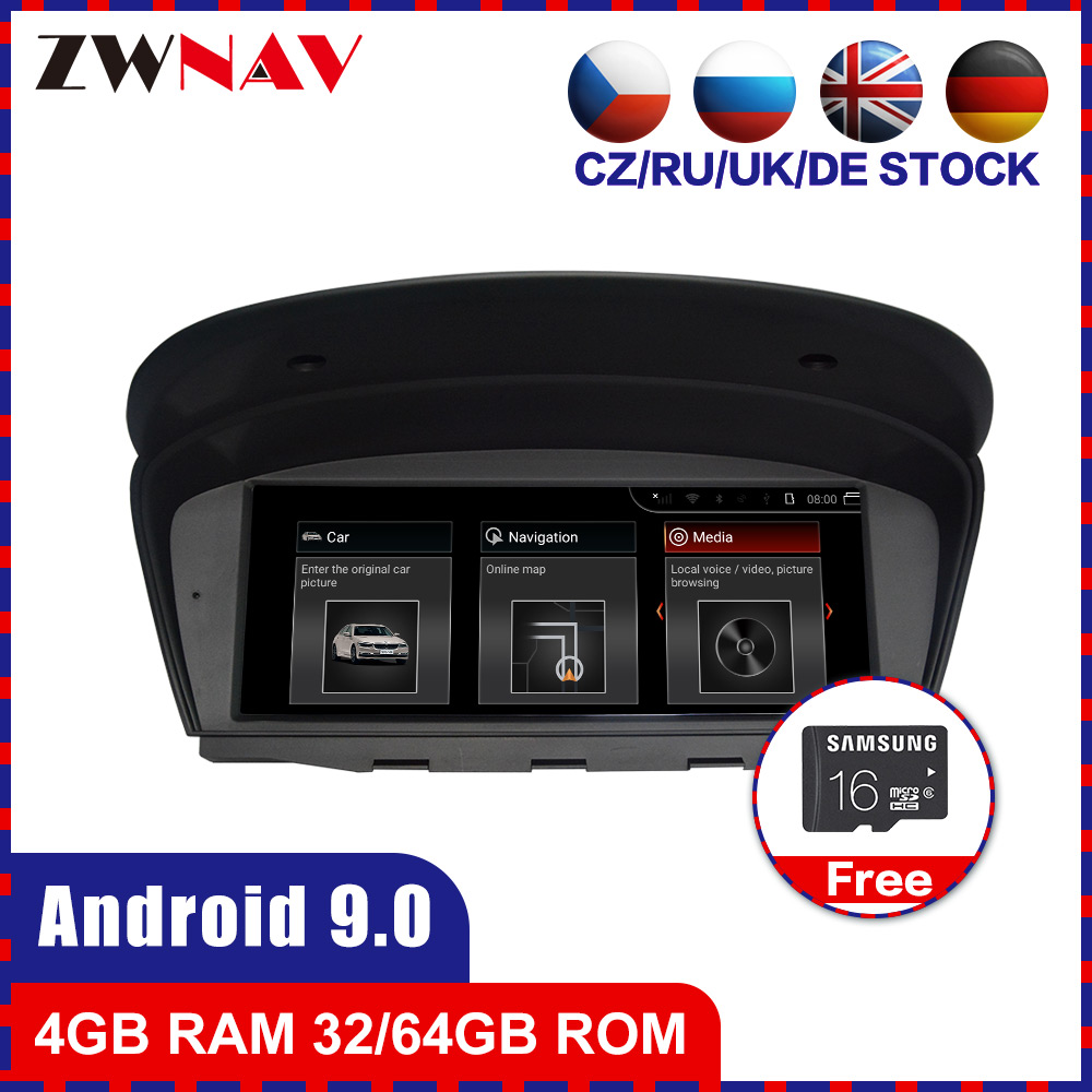 Android 9.0 Car multimedia Player GPS Audio navi for BMW 5seris E60 E61 M5 6 seris E63 E64 M6 3 Seris E90 E91 E92 E93 M3 stereo image