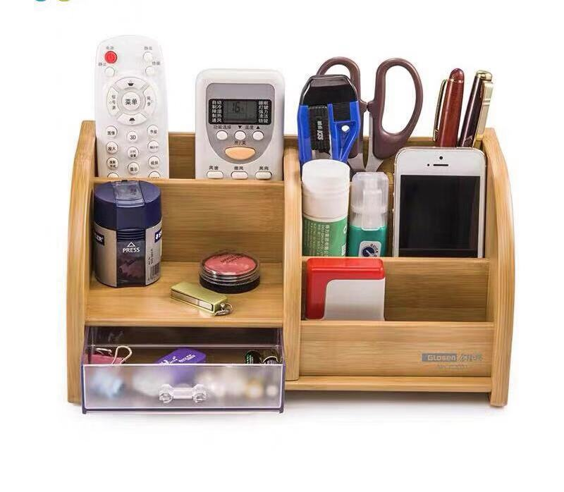 Storage Box Desk Cosmetics Storage Box Office Pen Holder Storage Box Container Stationery Large Capacity Storage Pen Case