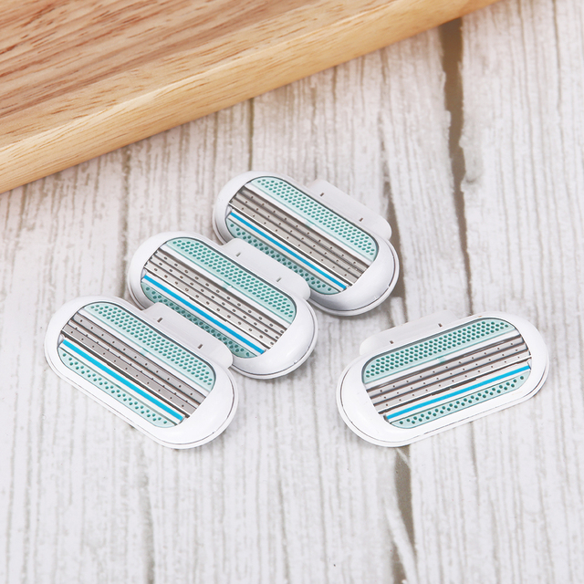 5pc/lot Female Safety Razor Blades Beauty Shaving For Women 3 Layer Blade Shaver Razor Blade Replacement Head For Gillette Venus 1