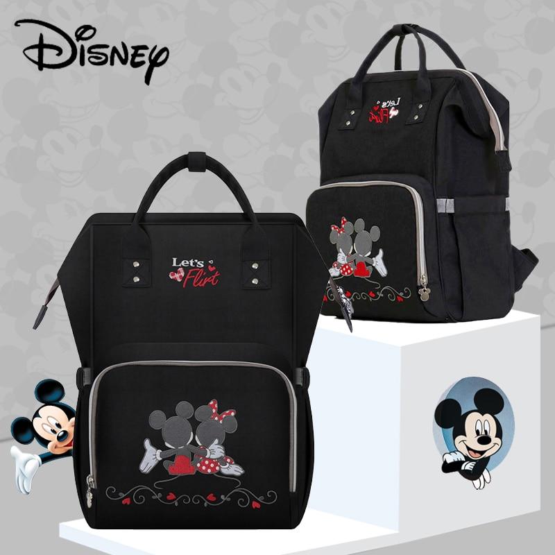 Disney Diaper Bag USB Baby Bag Cartoon Mummy Maternity Nappy Bag Brand Waterproof Travel Backpack Designer Nursing Care Bag 2019
