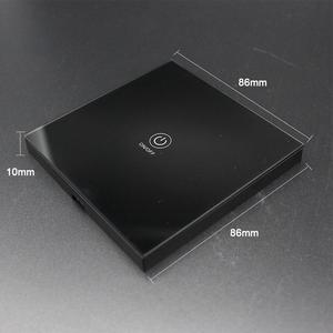 Image 5 - KTNNKG Black 86 Wall Touch Remote Control Wireless RF Transmitter Tempered Glass Panel + LED for Lamp Light 433MHz EV1527 Chip