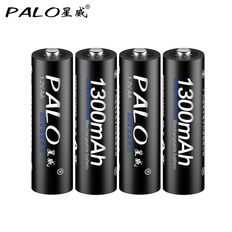 4Pcs/lots <font><b>Rechargeable</b></font> <font><b>Battery</b></font> <font><b>AA</b></font> 2A 2a 5# <font><b>1300mAh</b></font> NI-MH <font><b>1.2V</b></font> Pre-charged Bateria <font><b>Rechargeable</b></font> Baterias <font><b>Batteries</b></font> For Camera image