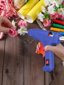 High Temp Heater Melt Hot Glue Gun 20W Repair Tool Heat Mini Gun EU Use 7mm Glue Sticks Optional Base By PROSTORMER