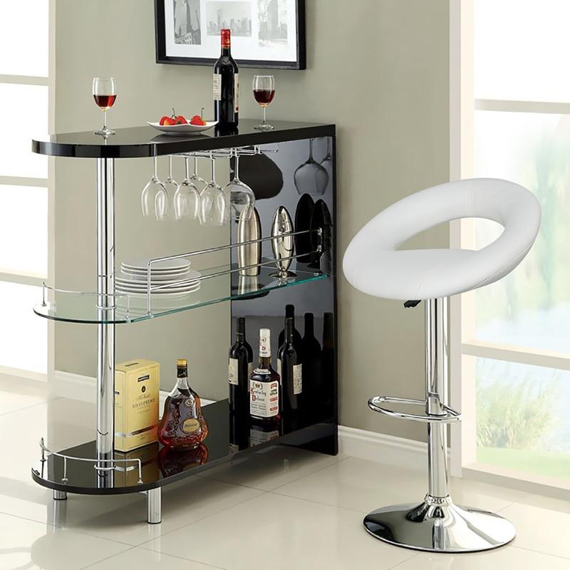 2PCS Swivel Rotating Bar Chair European Trendy Gas Liftable Bar Stool Moon Bay Design Barstool For Home Living Room Decor HWC