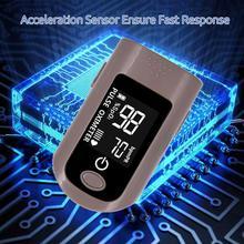 Пальцевой Пульсоксиметр портативный измеритель насыщения крови кислородом домашний будильник SPO2 PR Momitor 6 Режим зеленый фиолетовый розовый зеленый синий