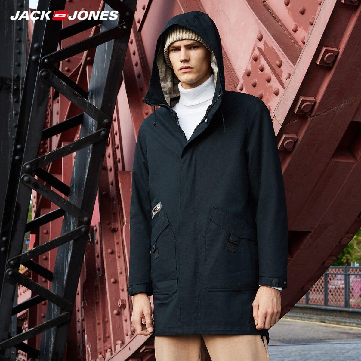 JackJones الرجال 3 في 1 معطف بركة (سترة من الفراء بقبعة للقطب الشمالي) طويلة سترة الرجال خندق معطف كلية الفاخرة الرجالية  218309518-في سترات فرائية مقلنسة من ملابس الرجال على  مجموعة 2