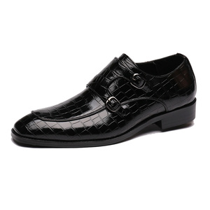 Image 2 - 男性ドレスシューズ手作りパティの結婚式靴メンズフラットレザーオックスフォード正式な靴