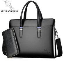 YUESKANGARO Fashion Shoulder Bag Men Briefcase A4 PU Leather Men Bags Business Laptop