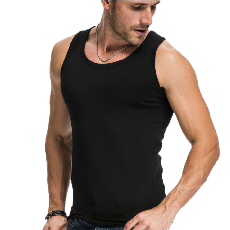 2020 Summer Men Cotton Comfortable Undershirt Mens Sleeveless Tops Casual Shirt Underwear Male Muscle Vest Gym Clothing For Man