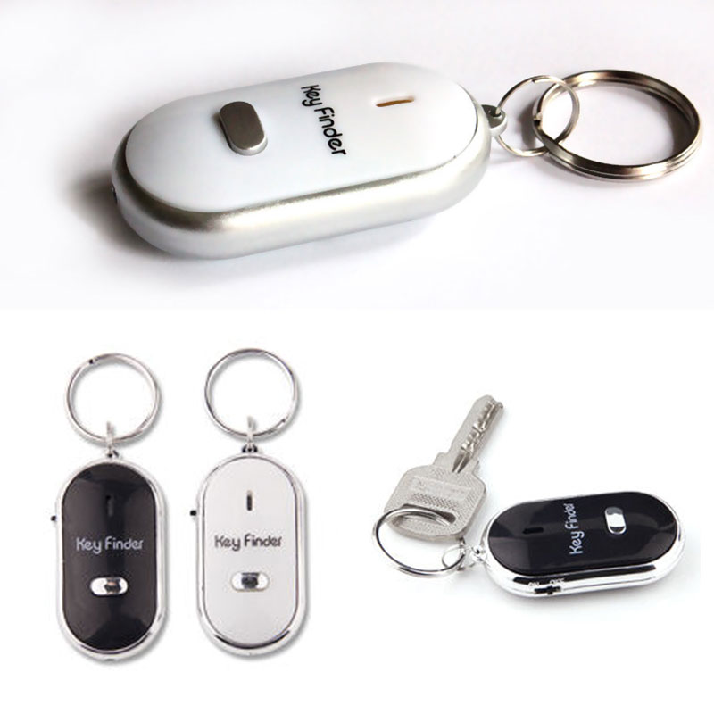 Wireless Whistle Key Finder Flash Remote Control Locator Alarm Keychain KQS8