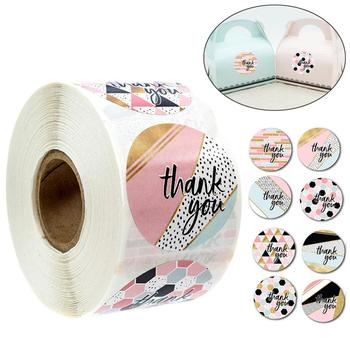 Thank You Stickers Roll 500pc