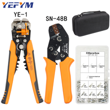 SN-48B Crimping Pliers Tools set for 2.8 4.8 6.3mm Terminals double-deck Kit Bag YE-1 Multifunctional wire stripper Repair Clamp