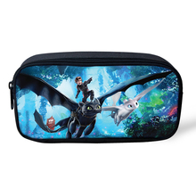 HaoYun Kids Pencil Case How to Train Your Dragon Pattern Students Stationery Box School Supplies Pen Bag Kawaii Girls Beautician elviswords how to train your dragon printing pencil case for students children boys girls stationery school supplies pencil box