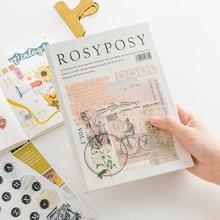 Simples estilo retro criativo adesivo coleção selo máquina de escrever diário adesivos diário suprimentos kawaii