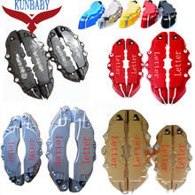 KUNBABY 8 Colors ABS Plastic Car Auto 3D Word Style Disc Brake Caliper Covers Front And Rear Car Styling Free Shipping
