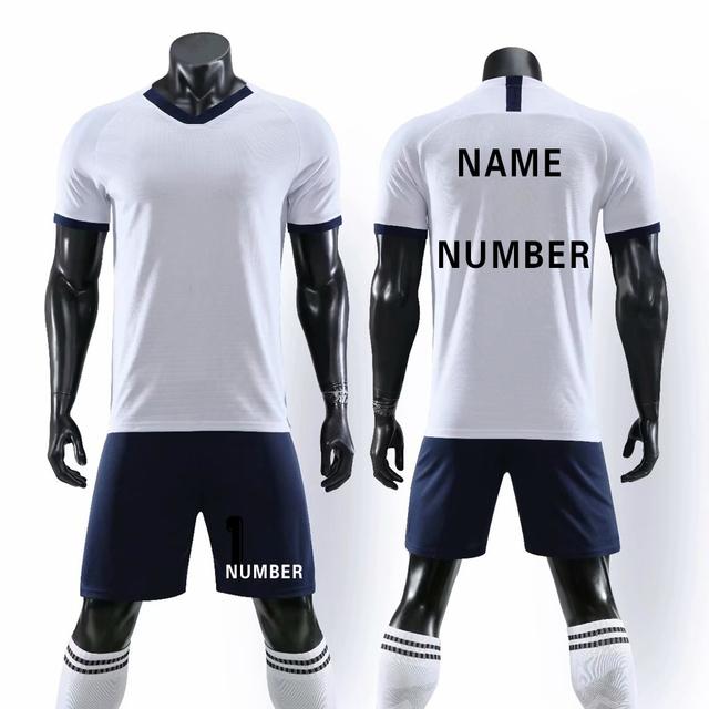 2019 Survetement Football Men Kids Soccer Jerseys Uniform Sport Training Suits Shirt+Shorts Sets Boys League Custom Sportswear
