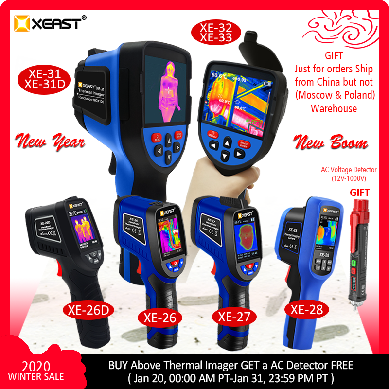 XEAST NEW ARRIVAL XE-26 & XE-27 Series 2.4 Inch Color Screen Handheld  Thermal Imaging Camera Image Come With Ambient Humidity