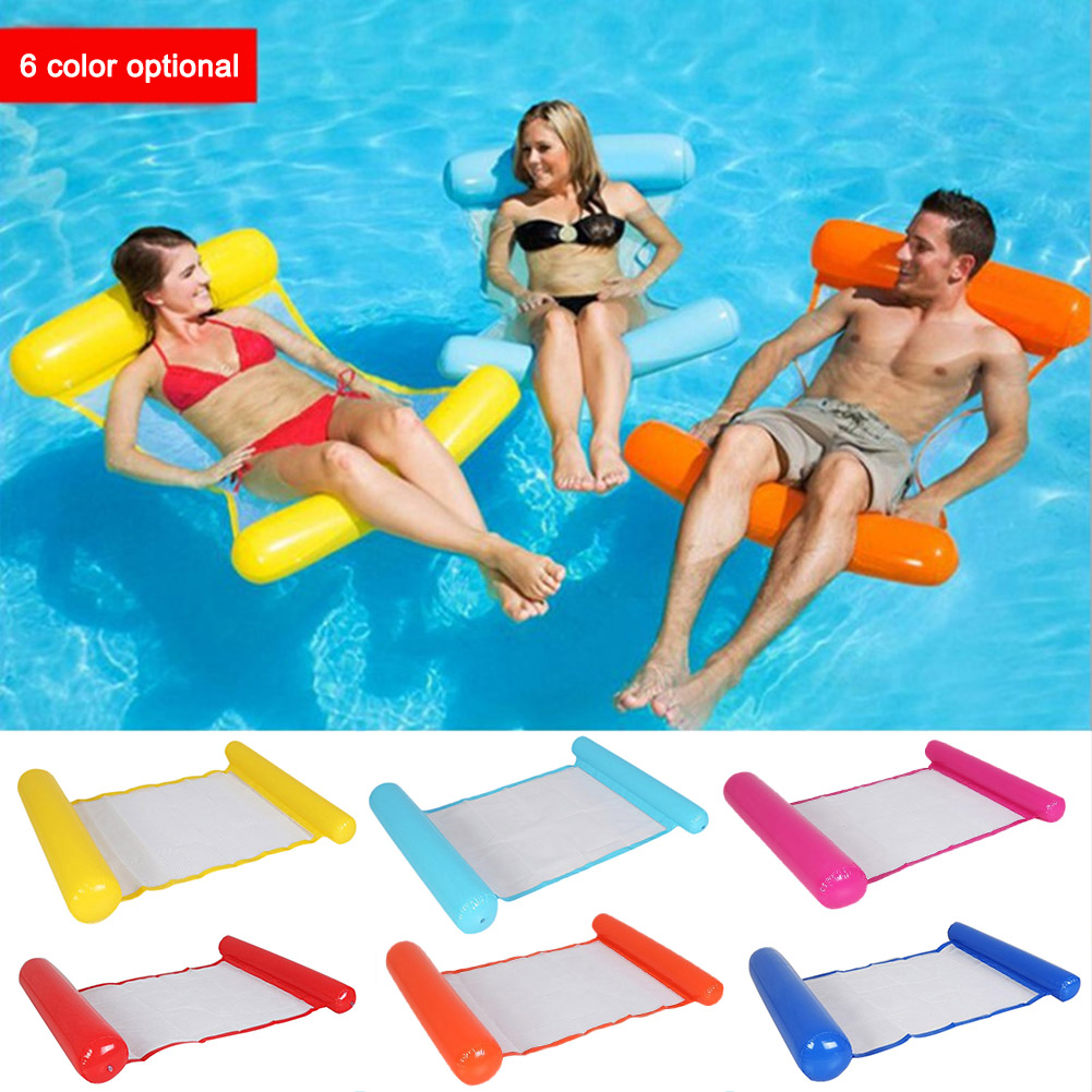 Outdoor Foldable Water Hammock Swimming Pool Inflatable Air Mattress Summer Beach Lounger Back Floating Chair Sleeping Bed 1
