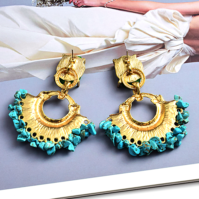 High-quality Bohemian Vintage Handmade Rhinestone Drop Earrings Wholesale Jewelry Accessories For Women
