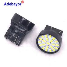 50x T20 LED 7443 7440 W21/5W 22 1206 3014 SMD car reversing backup lamp stop brake light turn steering direction indicator lamp