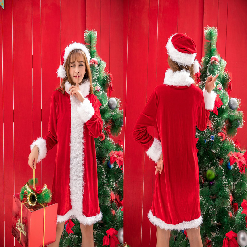New Style Sexy Christmas Clothing Adult Female Cosplay Bar Nightclub DS Lead Dancer Performance Costume Red