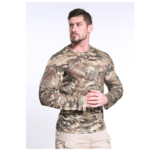 Men Long Sleeve T-Shirt Tactical Camouflage New Summer Quick Dry Breathable Military Uniform Army Tops Clothing T Shirt Male New