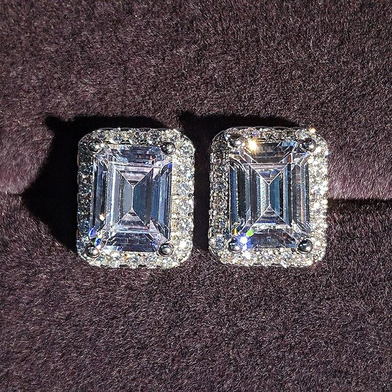 Reale 925 Sterling Silver Zirconia Orecchini Con Perno Brincos Per le donne femminile Boucle D Oreille Femme Bijoux Regalo moonso gioielli E1997
