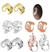 2 Styles Cartilage Punk Ear Cuffs Clip-On Earrings Cross No Pierced 3 Colors Wrap Clip Earring Nose Piercing Helix Tragues Oreja(China)