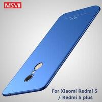 Msvii Für Xiaomi Redmi 5 Plus Globale Version Fall Für Xiaomi Redmi 5 Pro 2017 Fall Xiomi Redmi5 Silm PC abdeckung Für Redmi 5A Fällen