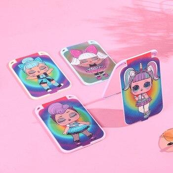 lol surprise dolls Square plastic mirror makeup portable flip girl cartoon