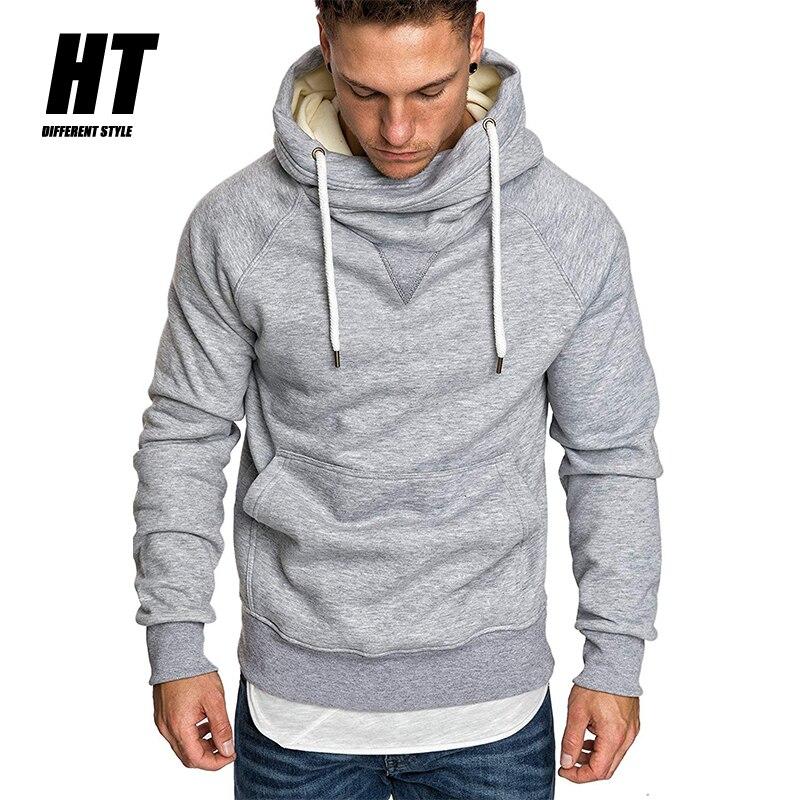Толстовка мужская однотонная с капюшоном, хлопок, повседневный Модный пуловер для фитнеса, свитшот, брендовый стиль, осень-весна
