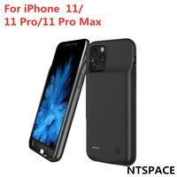 External Battery Case For iPhone 11 Pro Charger Cases Charging Soft TPU Cover For iPhone 11 Pro Max Backup Power Bank Case Phone