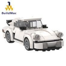 Buildmoc cidade super carro de corrida blocos de construção técnica esportes voltar veículo supercar crianças velocidade tijolos brinquedos presentes