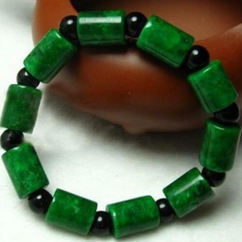 Bracelet en perles de Jade vert naturel Statue animale sûre et bonne chance cadeau de bijoux exquis