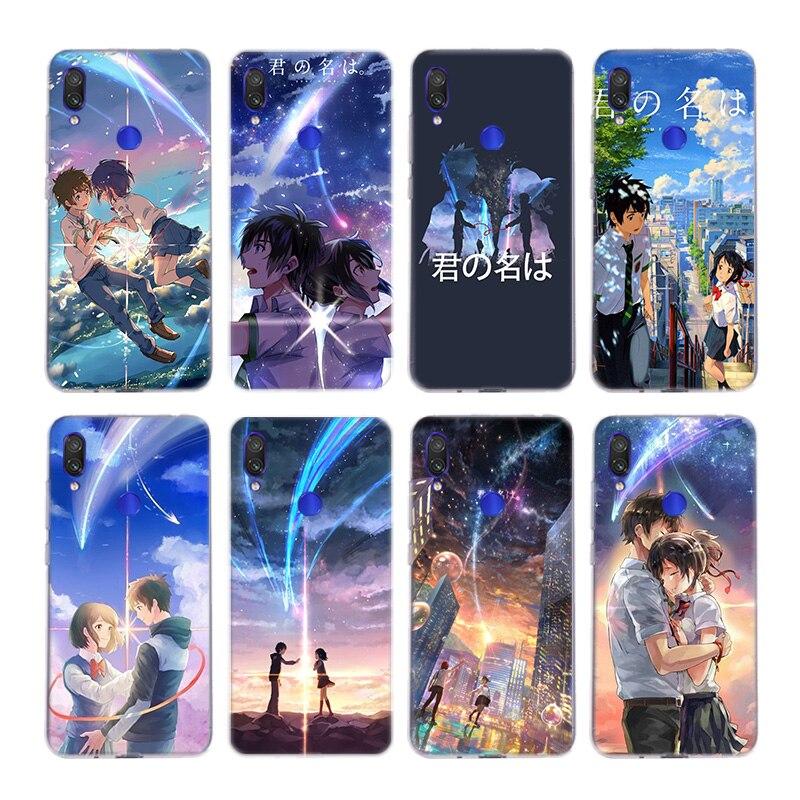 Japoński Anime twoje imię Kimi nie Na wa silikonowe etui Na Xiaomi Redmi Note 9 8 7 6 5 Plus 4 Pro 7A S2 6A 5A K30 okładka Coq