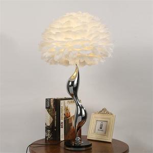 Image 3 - 北欧の高級白羽フロアランプ現代の Led 金属の花のフロア立ちランプリビングルームプリンセスルームのインテリアフロアライト