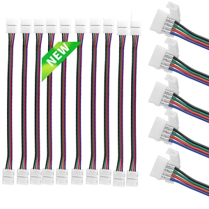 10mm 4 Pin led strip connector 5050 RGB RGBW LED Strip Light SM JST Male Female Connector Wire Cable