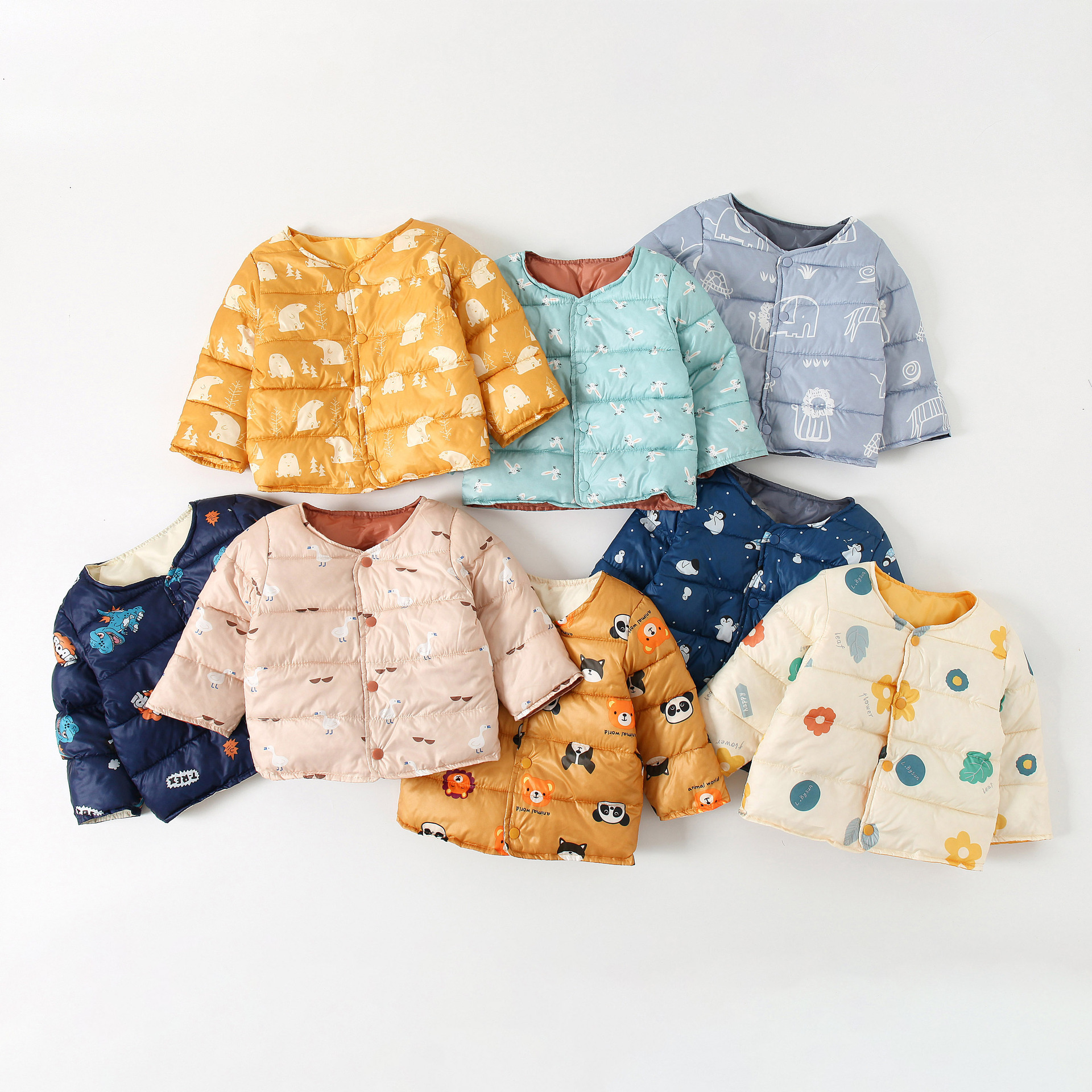 Baby Snowsuit Boys Winter Jacket Cotton-padded Kids Down Coat Outwear Girls Lightweight