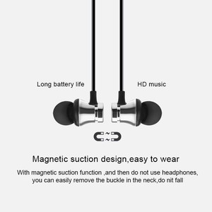 Image 3 - Magnetic Wireless Bluetooth Earphone Headset IPX4 Waterproof Earbuds With Mic for iPhone 7 Samsung Xiaomi Huawei for Smart Phone