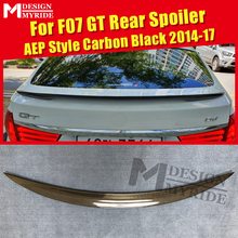 F07 GT Spoiler Tail rear lip wing Carbon Fiber AEP Style Fits For 535i 550i 535iGT 550GT trunk wings 2014-17