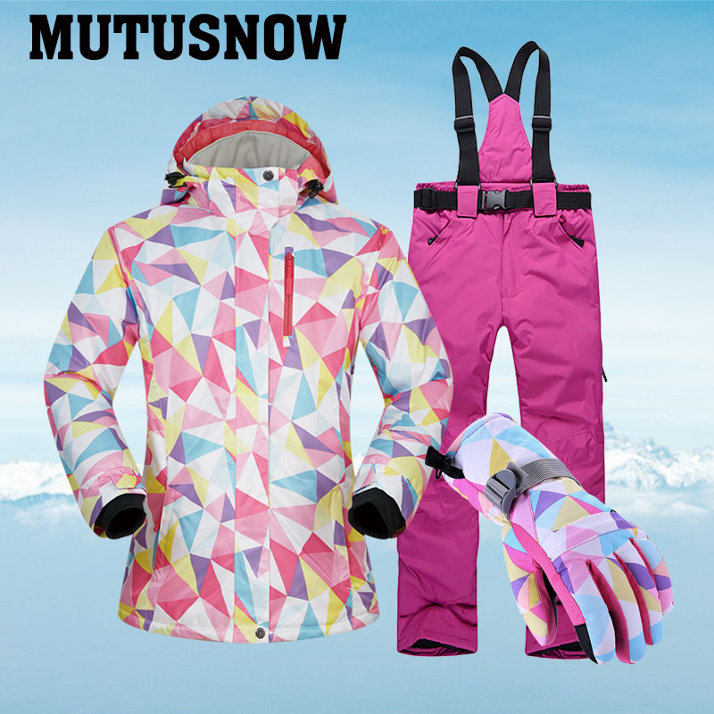 Ski Suits Women Winter Brands Sets Windproof Waterproof Breathable Outdoor Female Ski Jacket And Pants And Snowboarding Suits